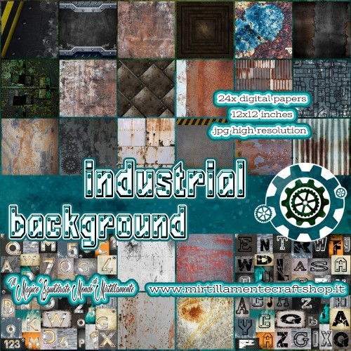INDUSTRIAL BACKGROUND 12x12 INCHES