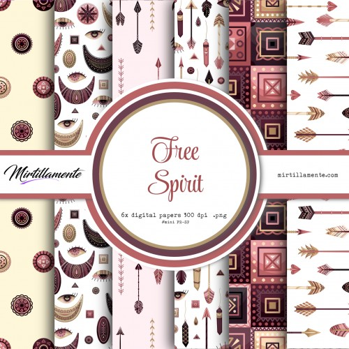 MINI PAPERS: FREE SPIRIT 15X15 CM