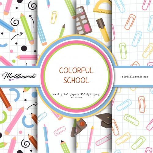 MINI PAPERS: COLORFUL SCHOOL 15X15 CM