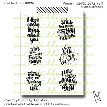 WORDZ: ABOUT LOVE NO.2 SENTIMENT