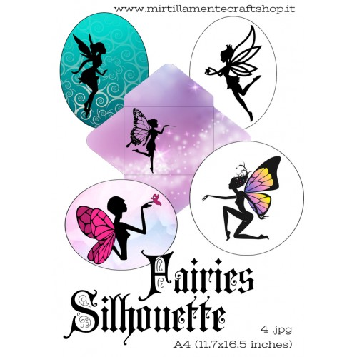 FAIRIES SILHOUETTE A4 (11.7x16.5 inches)