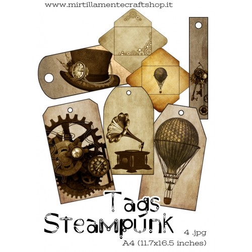 TAGS STEAMPUNK A4 (11.7x16.5 inches)